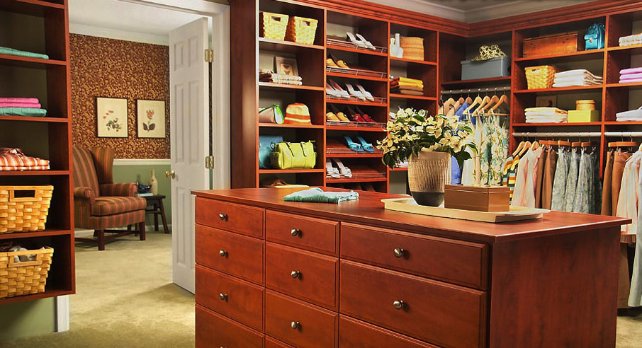 Bedroom Closet Drawers and Shelving Organizing Solution