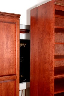 Solid Cherry Hardwood drawers, closets