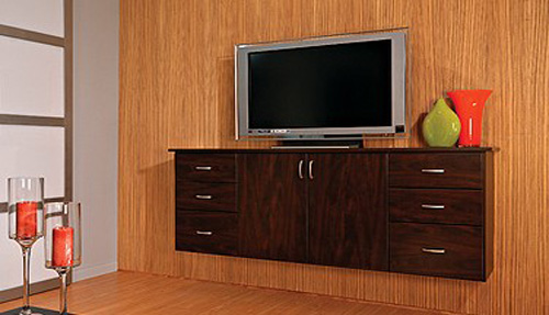 Home Entertainment Wall Drawers and Shelves Organizer Storage