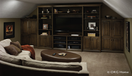 Home Entertainment Custom Cabinets and Shelving Organization