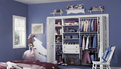 Children Bedroom Closet Shelving Cabinet Organizer