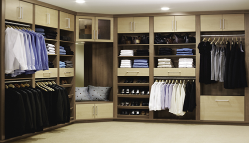 Custom Bedroom Closet Organizing System
