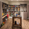 Kitchen and Pantry cabinet, shelving, and storage design solutions