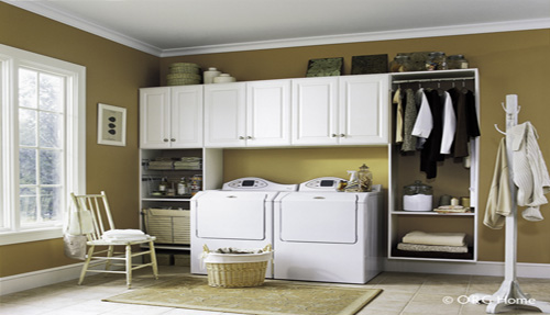 Laundry room cabinets shelving storage