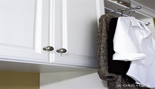 Laundry room cabinets organizer