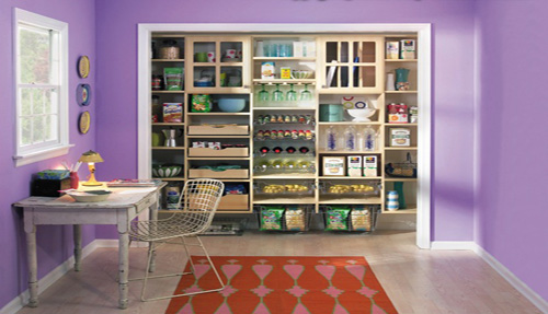 Pantry Cabinet Shelving Drawers Organizing